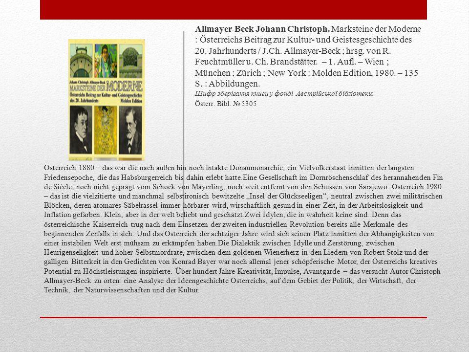 Allmayer-Beck Johann Christoph