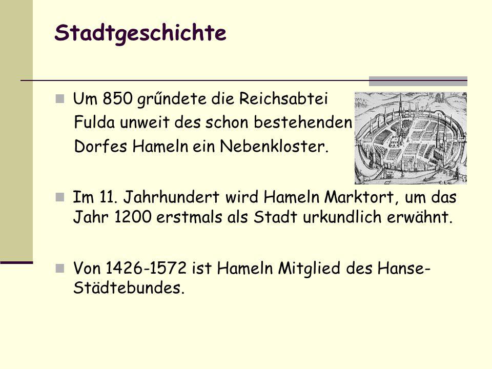 Stadtgeschichte Um 850 grűndete die Reichsabtei