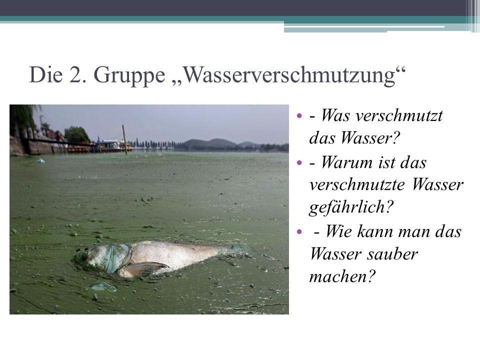 """Die 2. Gruppe """"Wasserverschmutzung"""