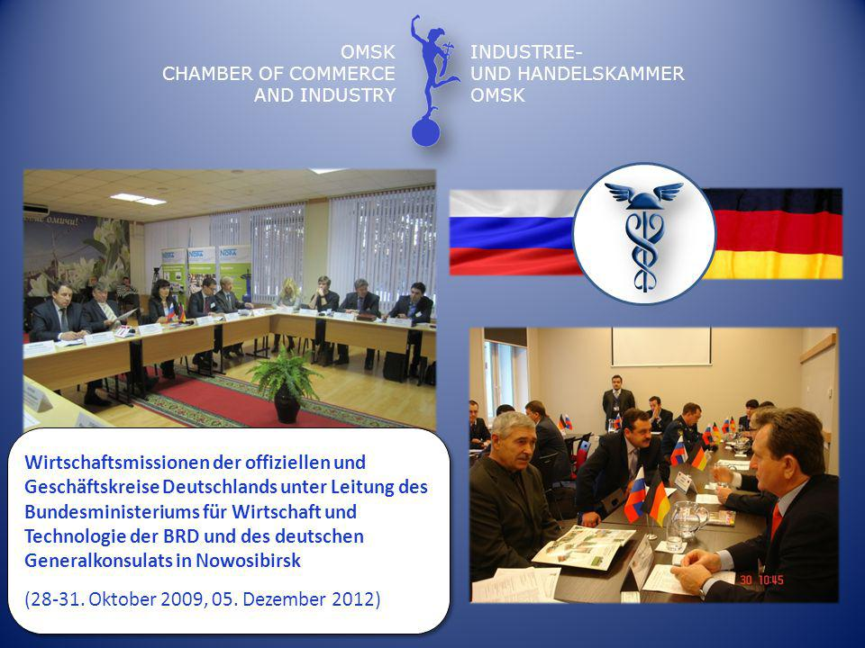 OMSK CHAMBER OF COMMERCE. AND INDUSTRY. INDUSTRIE- UND HANDELSKAMMER.