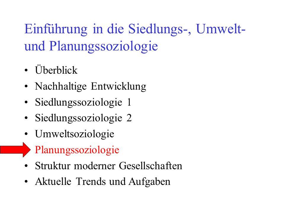 Einführung in die Siedlungs-, Umwelt- und Planungssoziologie