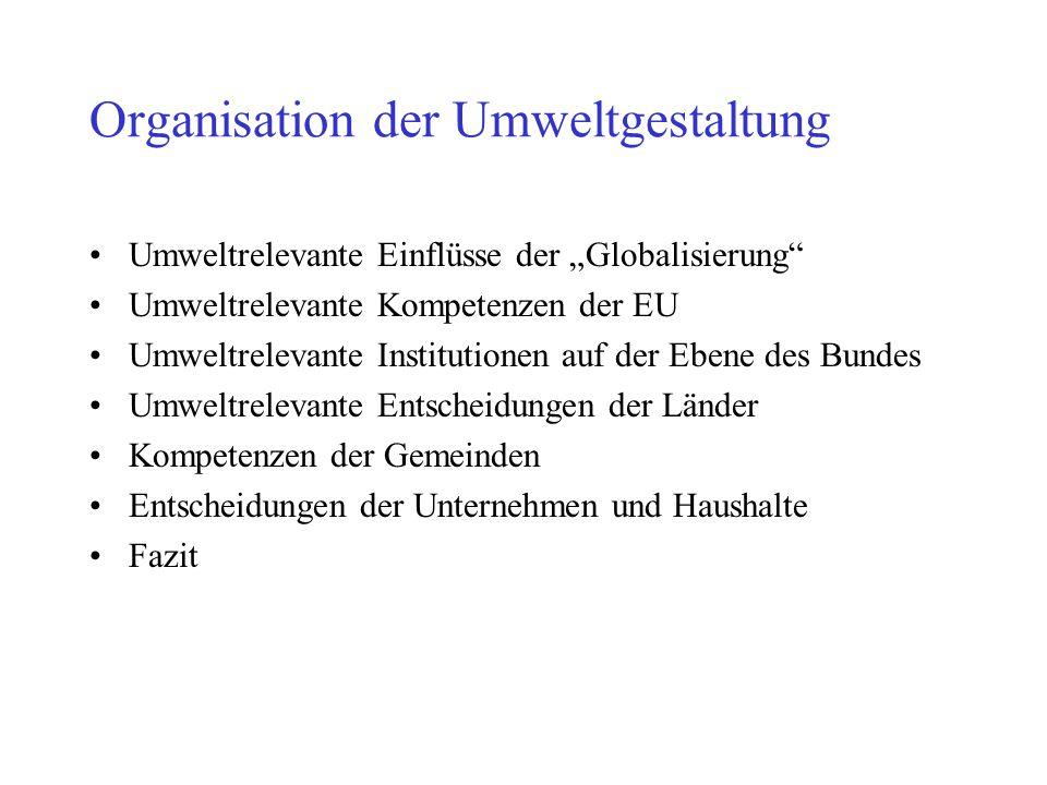Organisation der Umweltgestaltung
