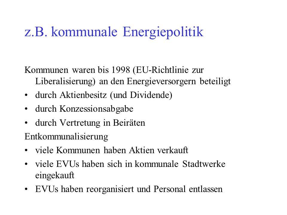 z.B. kommunale Energiepolitik