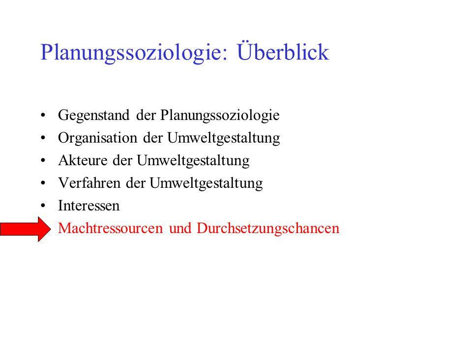 Planungssoziologie: Überblick