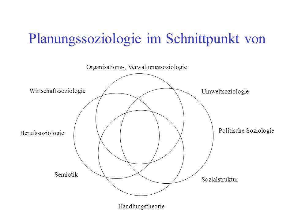 Planungssoziologie im Schnittpunkt von