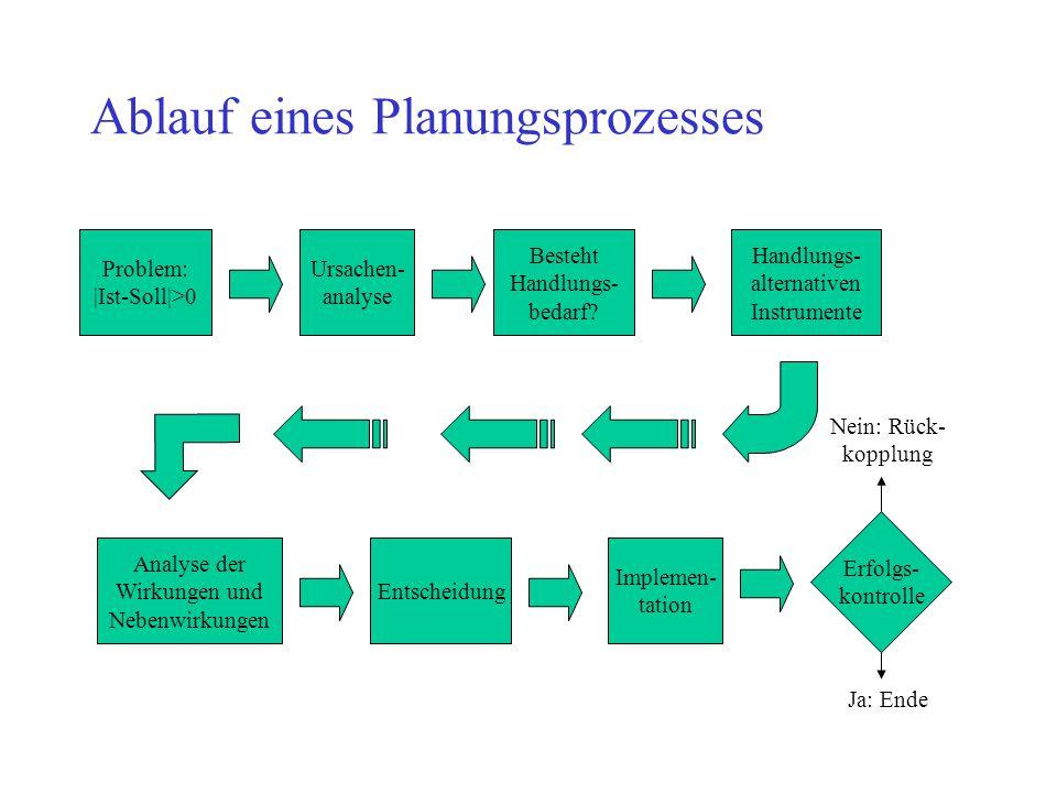 Ablauf eines Planungsprozesses