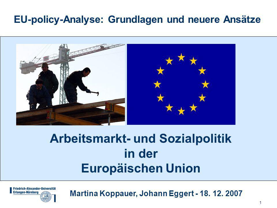 Arbeitsmarkt- und Sozialpolitik in der Europäischen Union