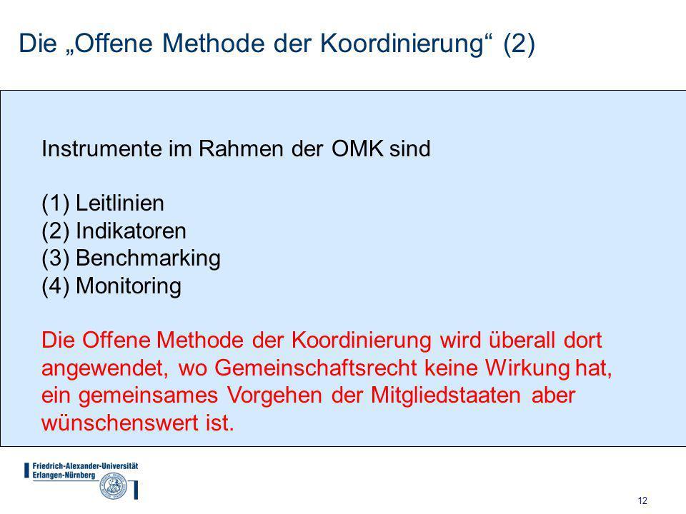 """Die """"Offene Methode der Koordinierung (2)"""