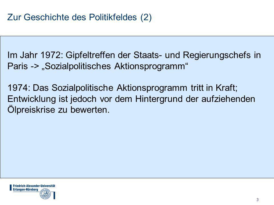 Zur Geschichte des Politikfeldes (2)