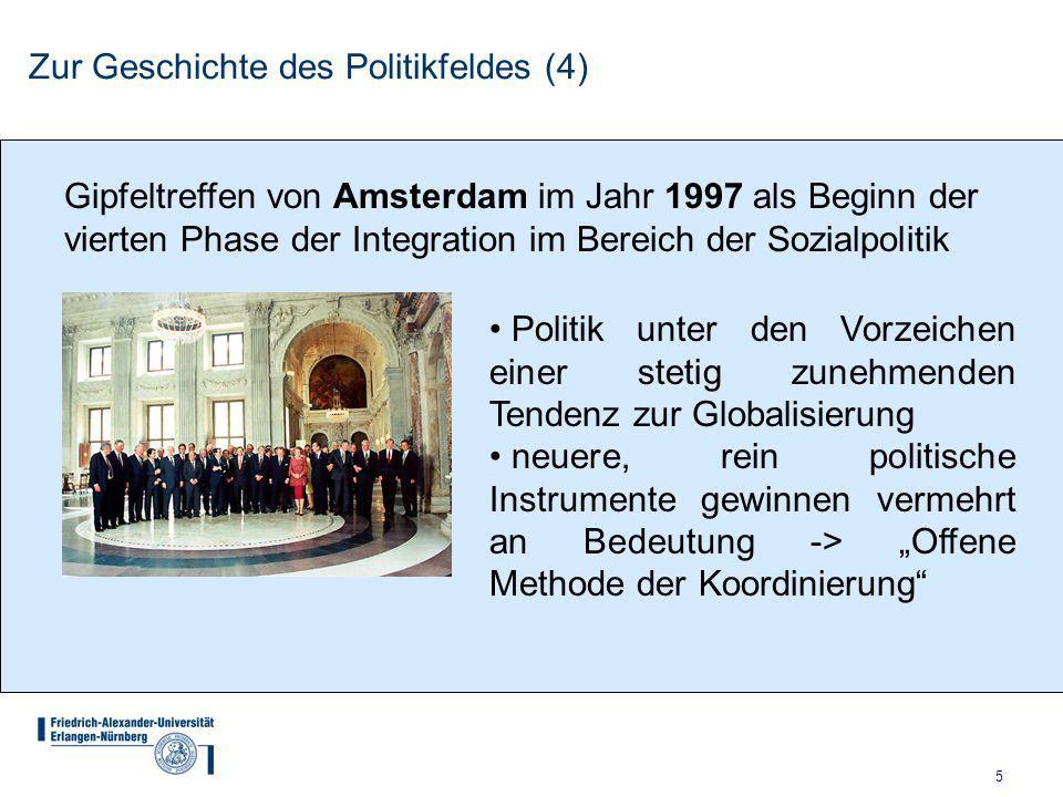 Zur Geschichte des Politikfeldes (4)