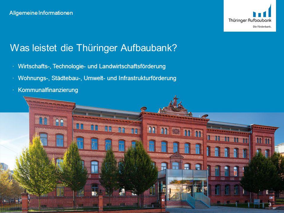 Was leistet die Thüringer Aufbaubank