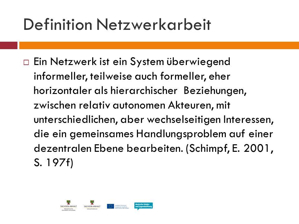 Definition Netzwerkarbeit