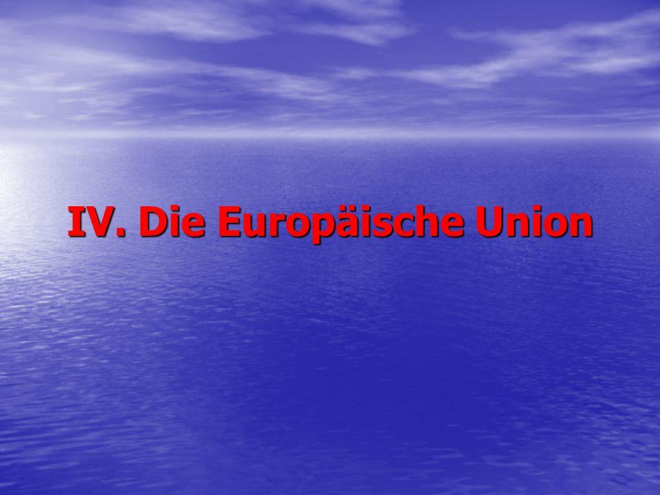 IV. Die Europäische Union