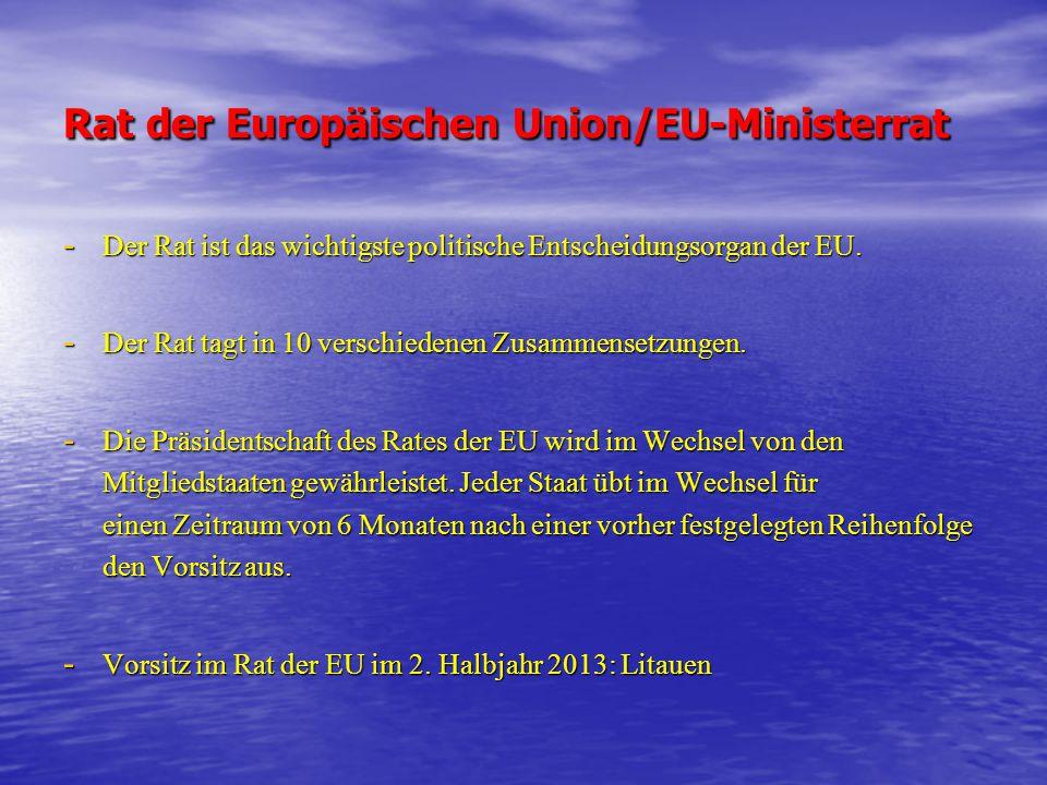 Rat der Europäischen Union/EU-Ministerrat