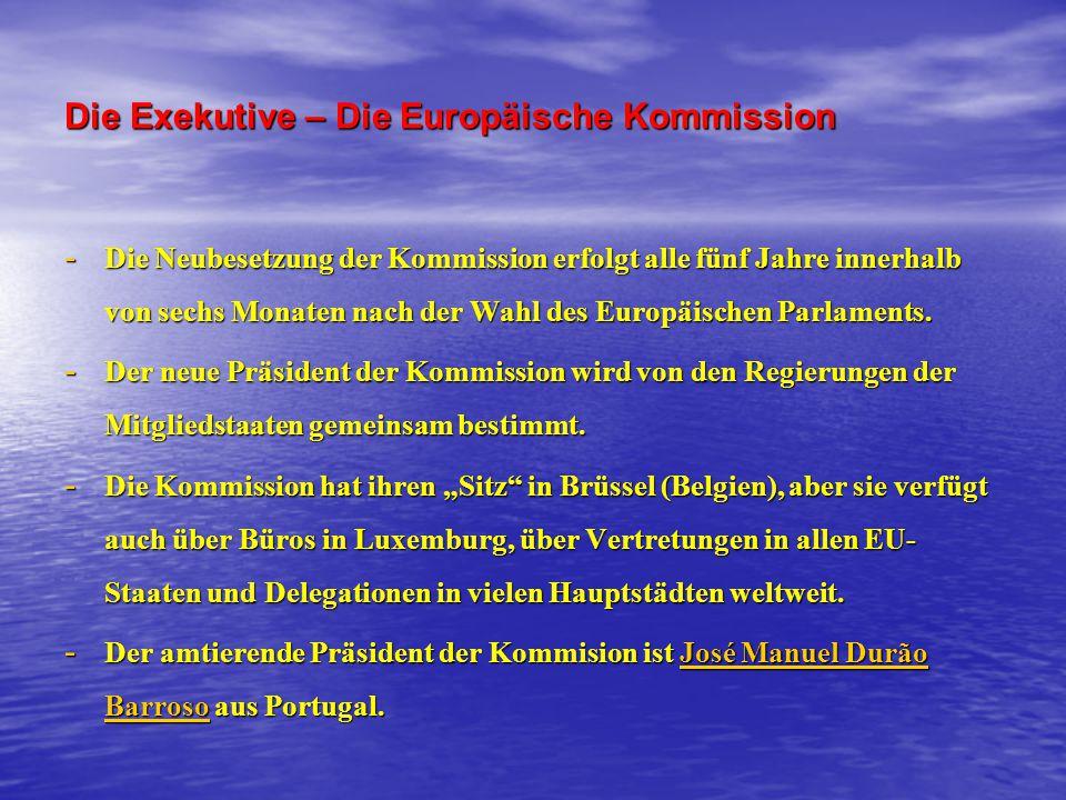 Die Exekutive – Die Europäische Kommission
