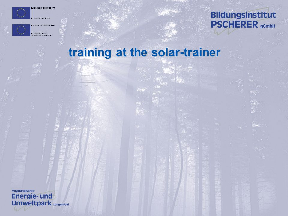 training at the solar-trainer