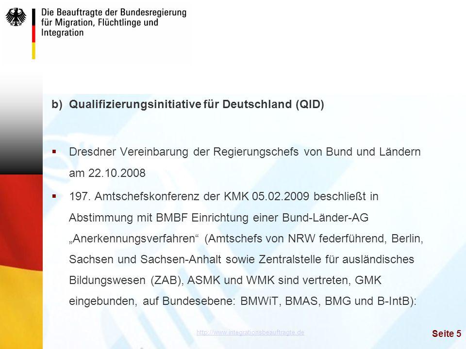 b) Qualifizierungsinitiative für Deutschland (QID)