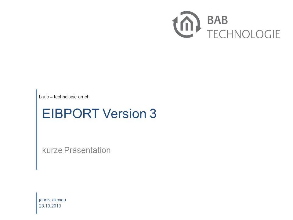 Oktober 2008 EIBPORT Version 3 kurze Präsentation eibPort Schulung