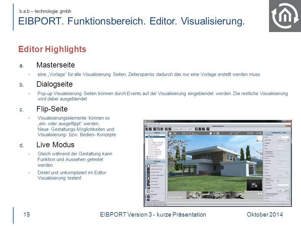 EIBPORT. Funktionsbereich. Editor. Visualisierung.