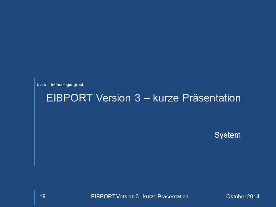 EIBPORT Version 3 – kurze Präsentation
