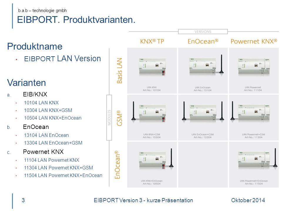 EIBPORT. Produktvarianten.