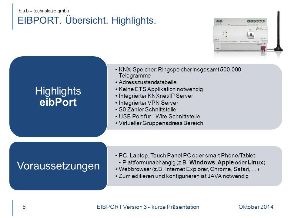 EIBPORT. Übersicht. Highlights.