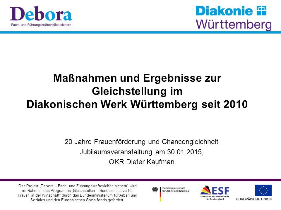 Maßnahmen und Ergebnisse zur Gleichstellung im Diakonischen Werk Württemberg seit 2010