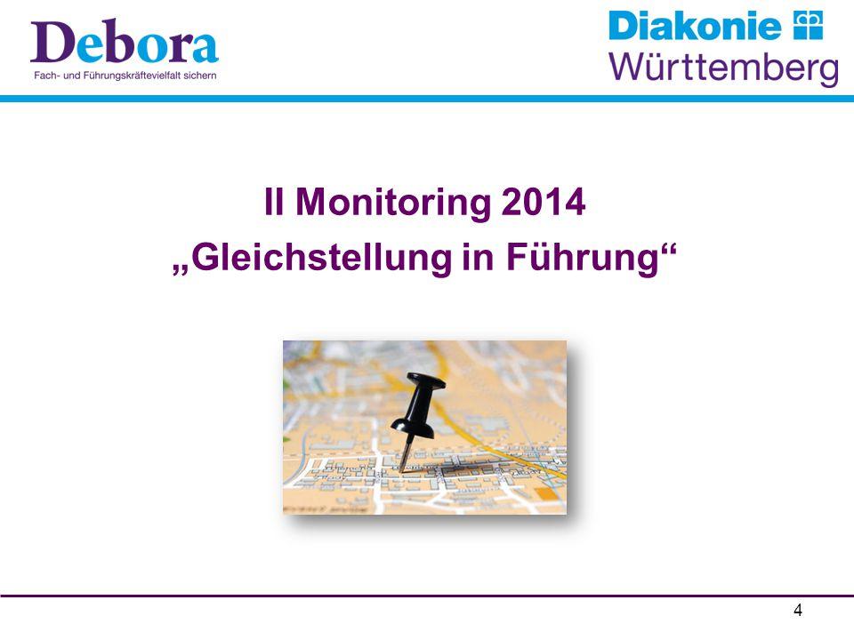"""II Monitoring 2014 """"Gleichstellung in Führung"""