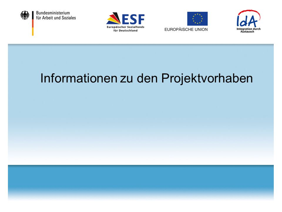 Informationen zu den Projektvorhaben