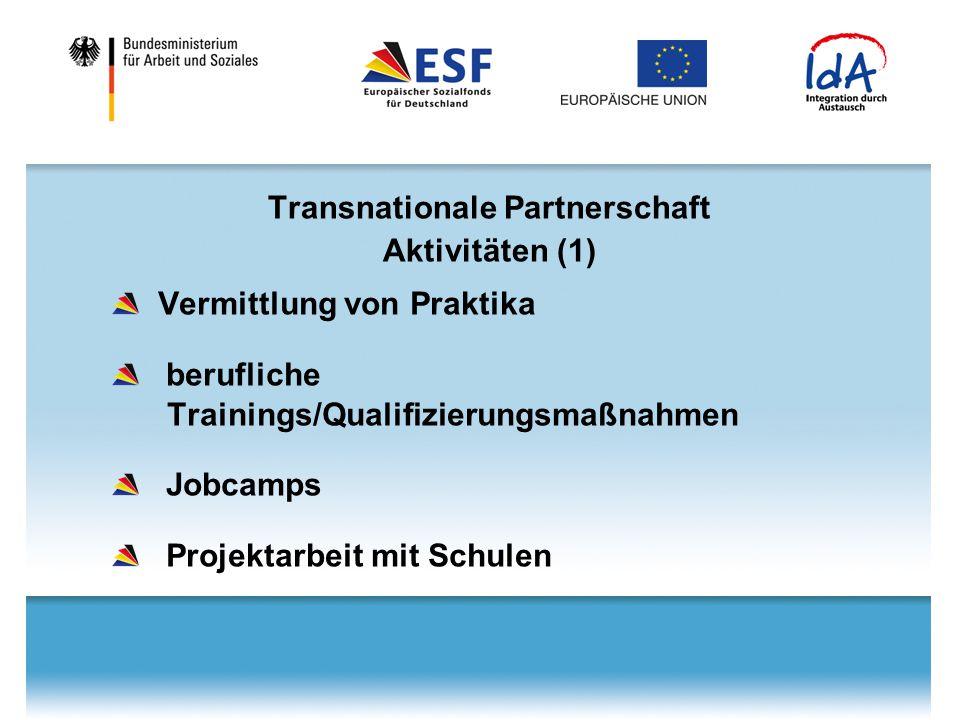 Transnationale Partnerschaft Aktivitäten (1)
