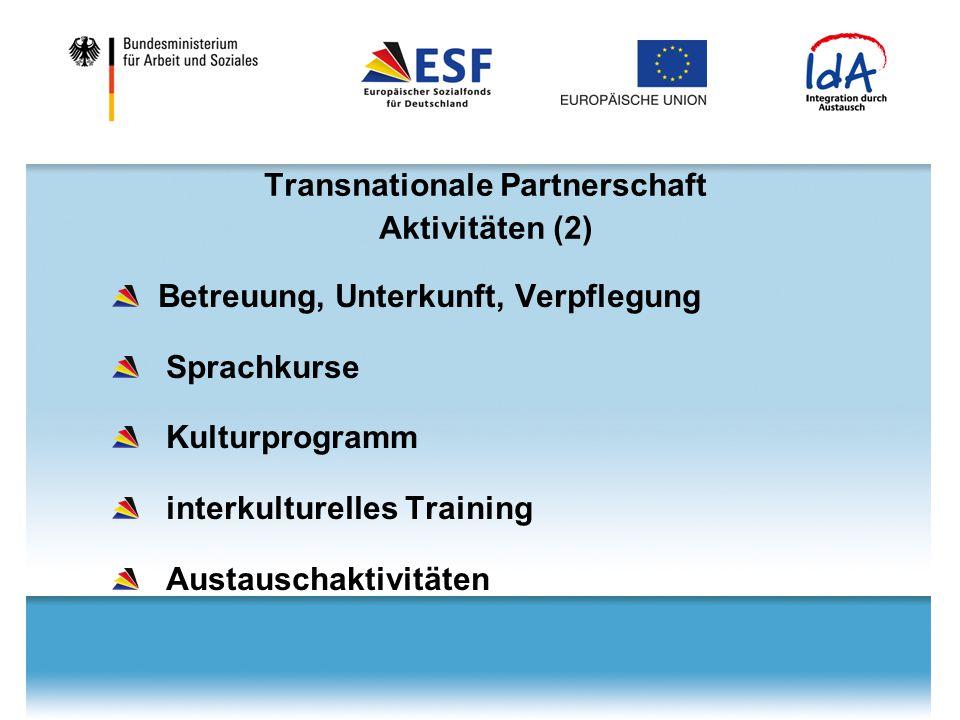 Transnationale Partnerschaft Aktivitäten (2)