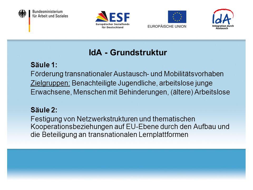 IdA - Grundstruktur Säule 1: