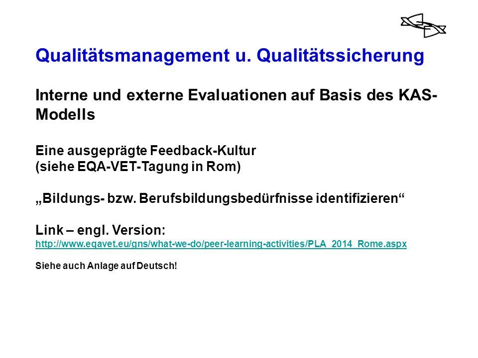 Qualitätsmanagement u. Qualitätssicherung