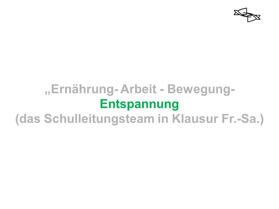"""""""Ernährung- Arbeit - Bewegung-Entspannung"""