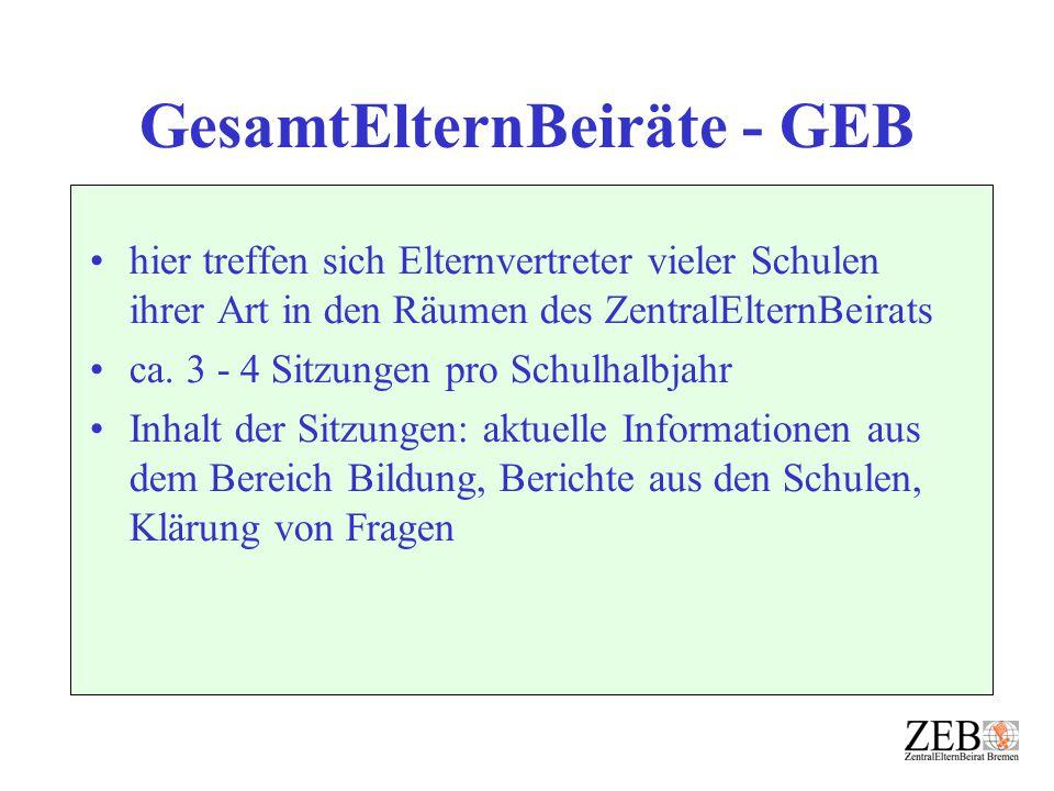 GesamtElternBeiräte - GEB