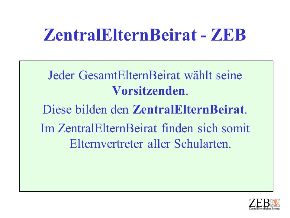ZentralElternBeirat - ZEB