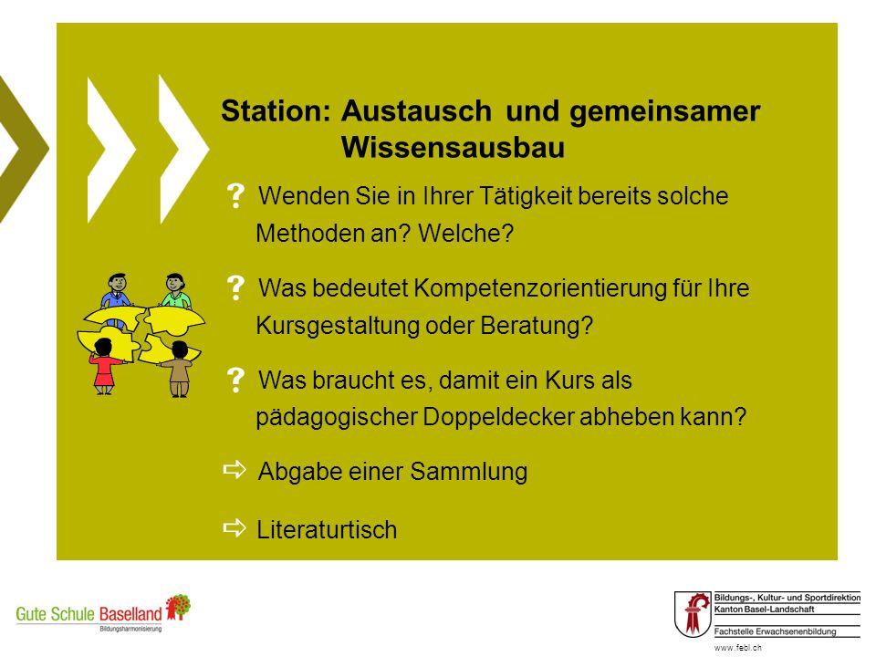 Station: Austausch und gemeinsamer Wissensausbau