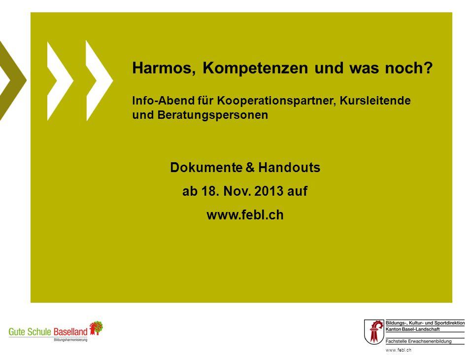 Harmos, Kompetenzen und was noch