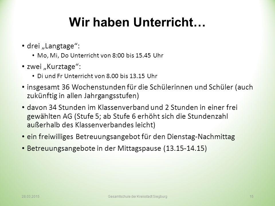 Gesamtschule der Kreisstadt Siegburg