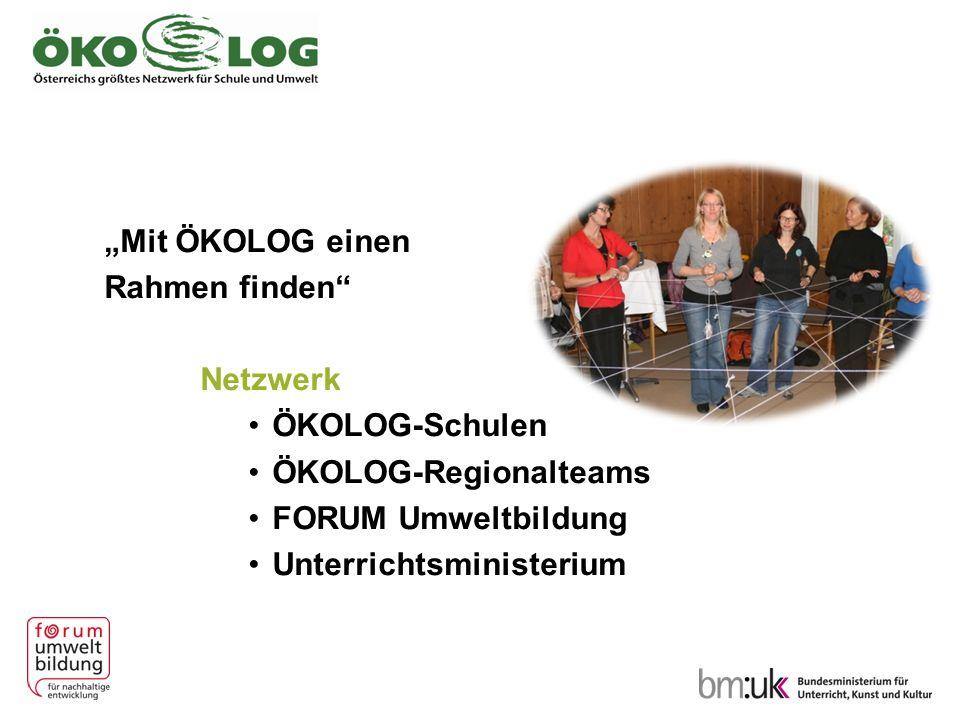 """""""Mit ÖKOLOG einen Rahmen finden Netzwerk. ÖKOLOG-Schulen. ÖKOLOG-Regionalteams. FORUM Umweltbildung."""