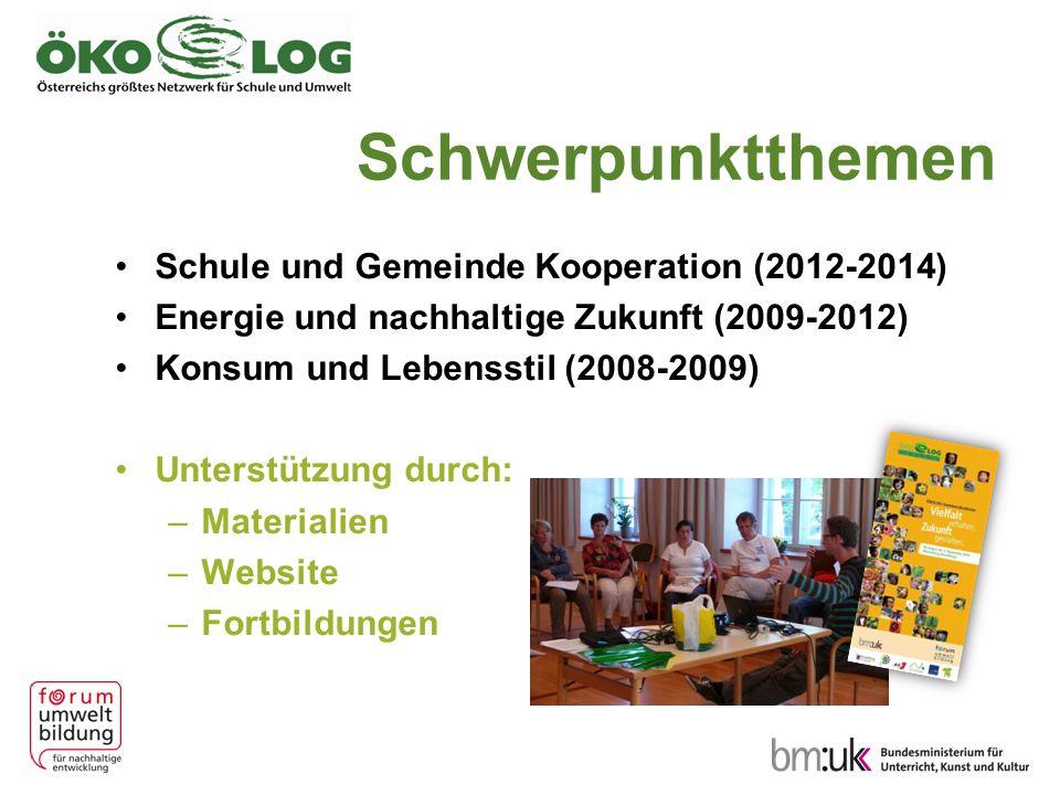 Schwerpunktthemen Schule und Gemeinde Kooperation (2012-2014)