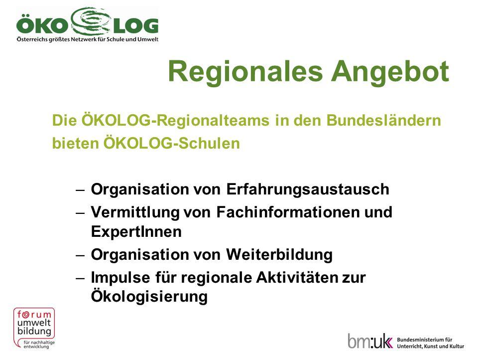 Regionales Angebot Die ÖKOLOG-Regionalteams in den Bundesländern