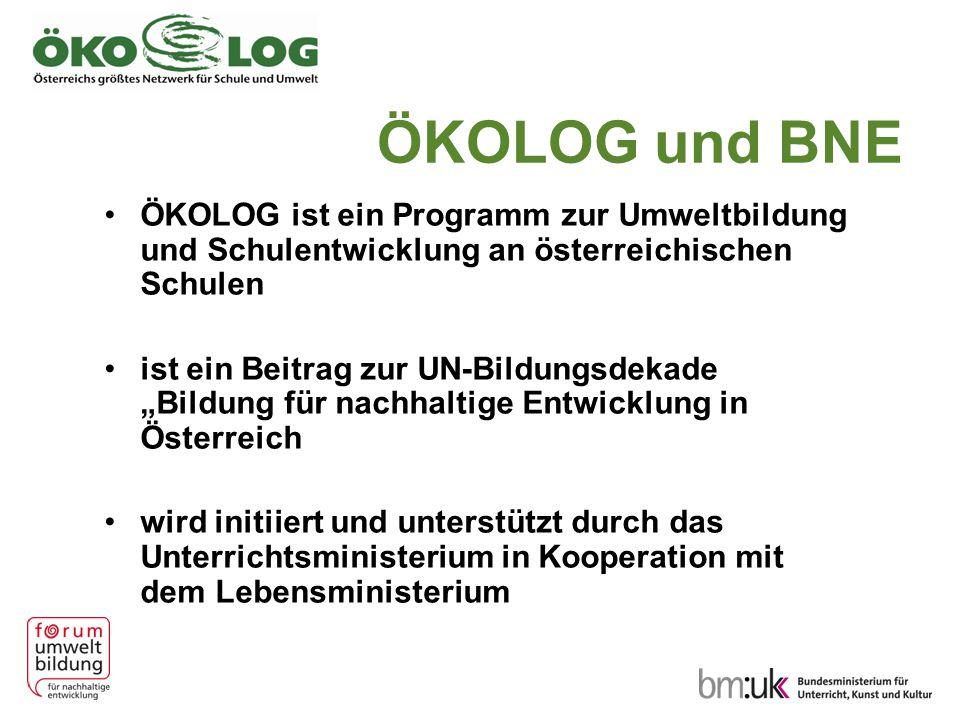 ÖKOLOG und BNE ÖKOLOG ist ein Programm zur Umweltbildung und Schulentwicklung an österreichischen Schulen.
