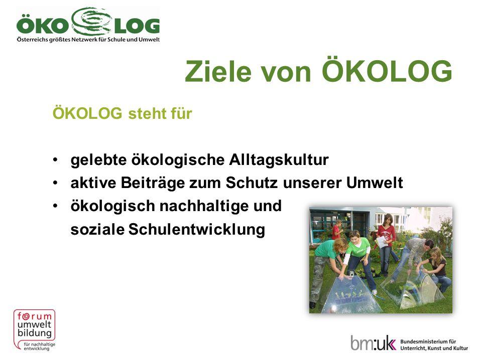 Ziele von ÖKOLOG ÖKOLOG steht für gelebte ökologische Alltagskultur