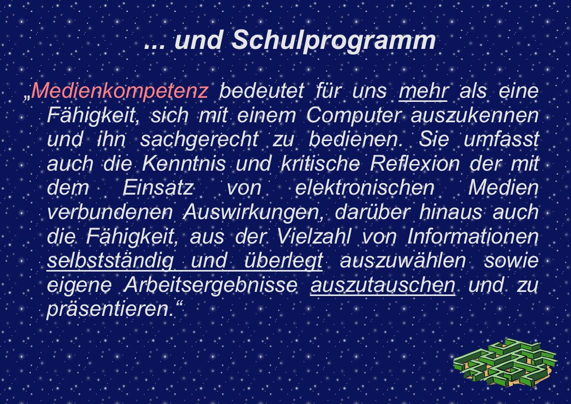 ... und Schulprogramm