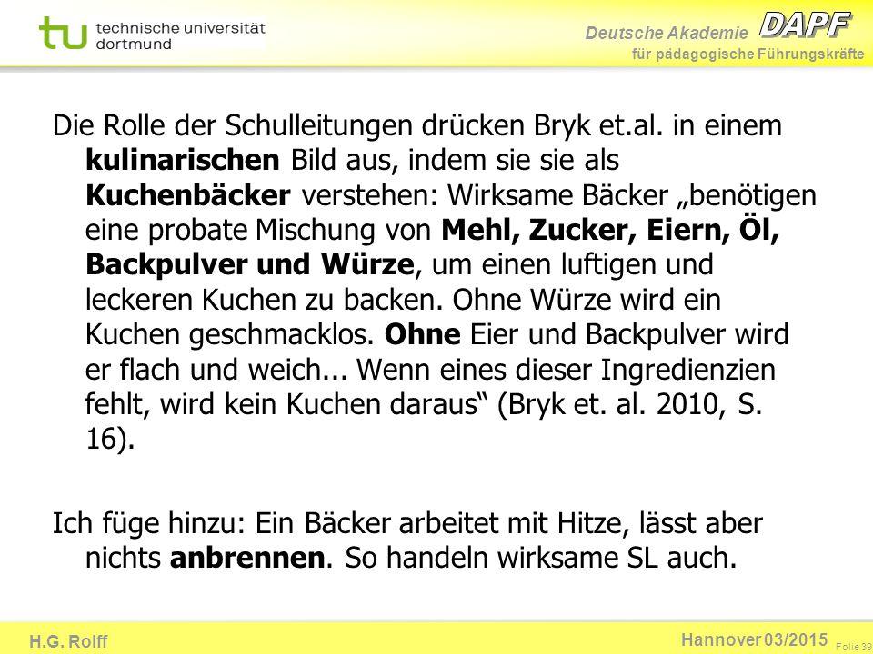 Die Rolle der Schulleitungen drücken Bryk et. al