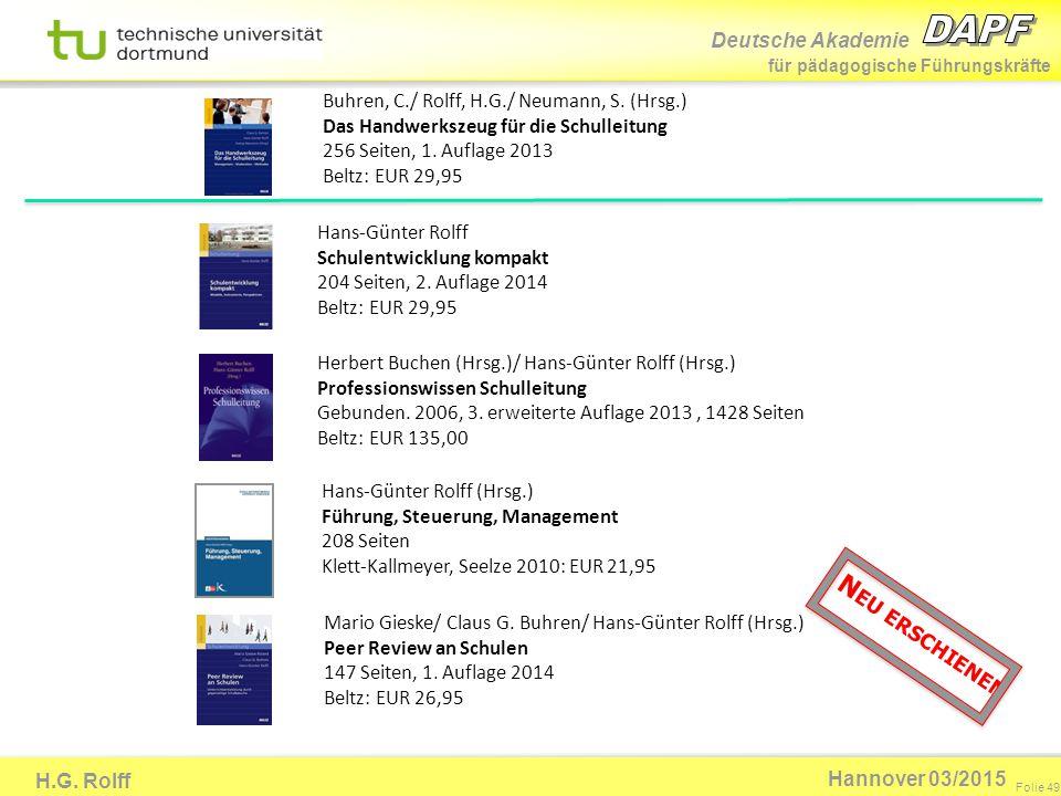 Buhren, C. / Rolff, H. G. / Neumann, S. (Hrsg