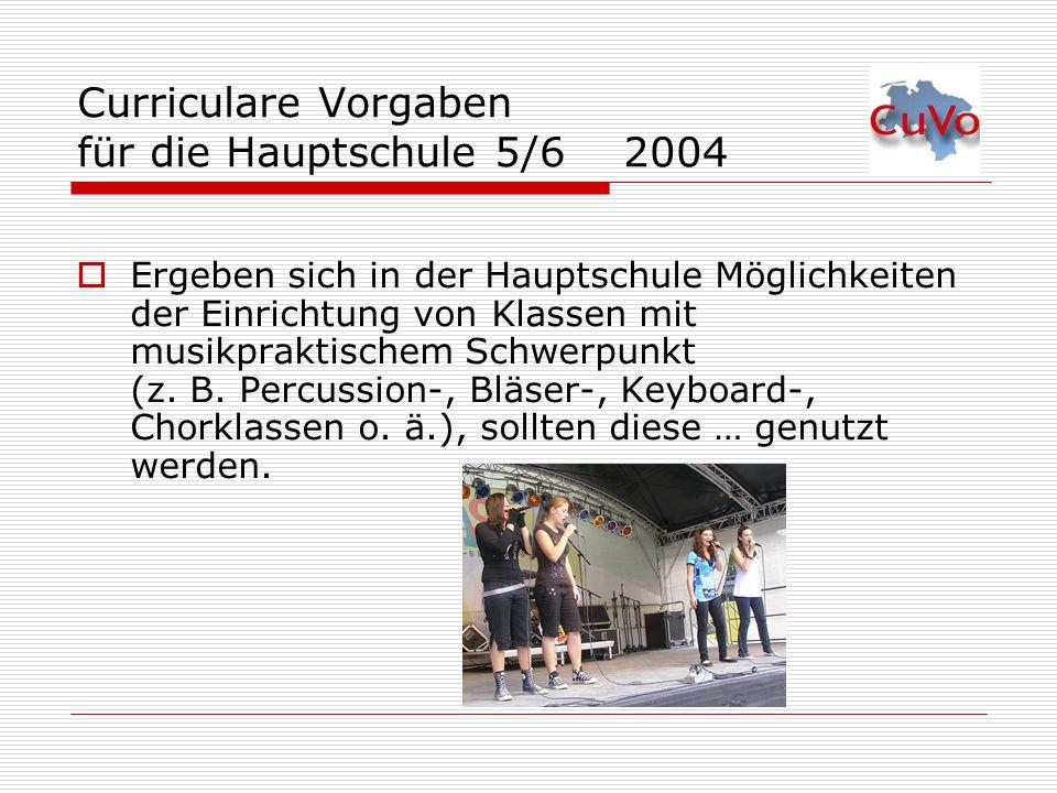 Curriculare Vorgaben für die Hauptschule 5/6 2004