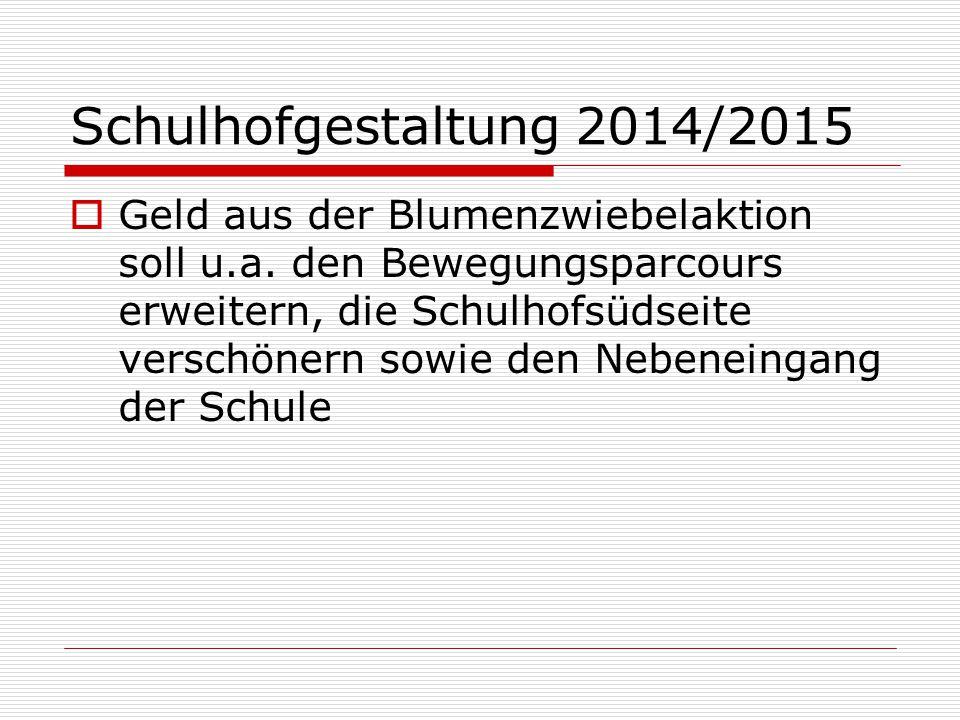 Schulhofgestaltung 2014/2015