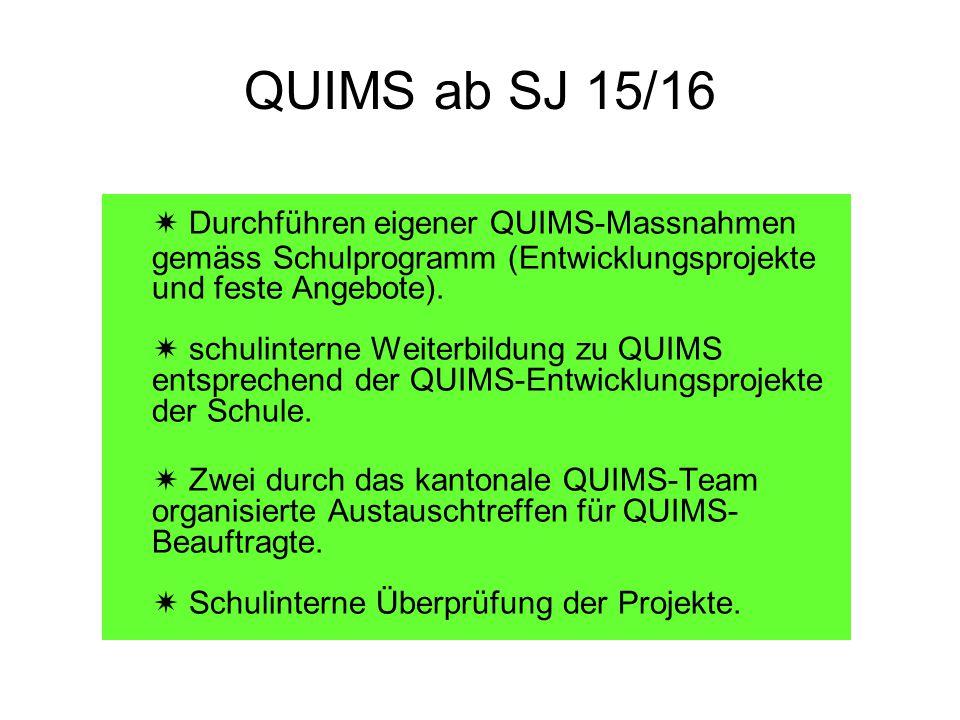 QUIMS ab SJ 15/16